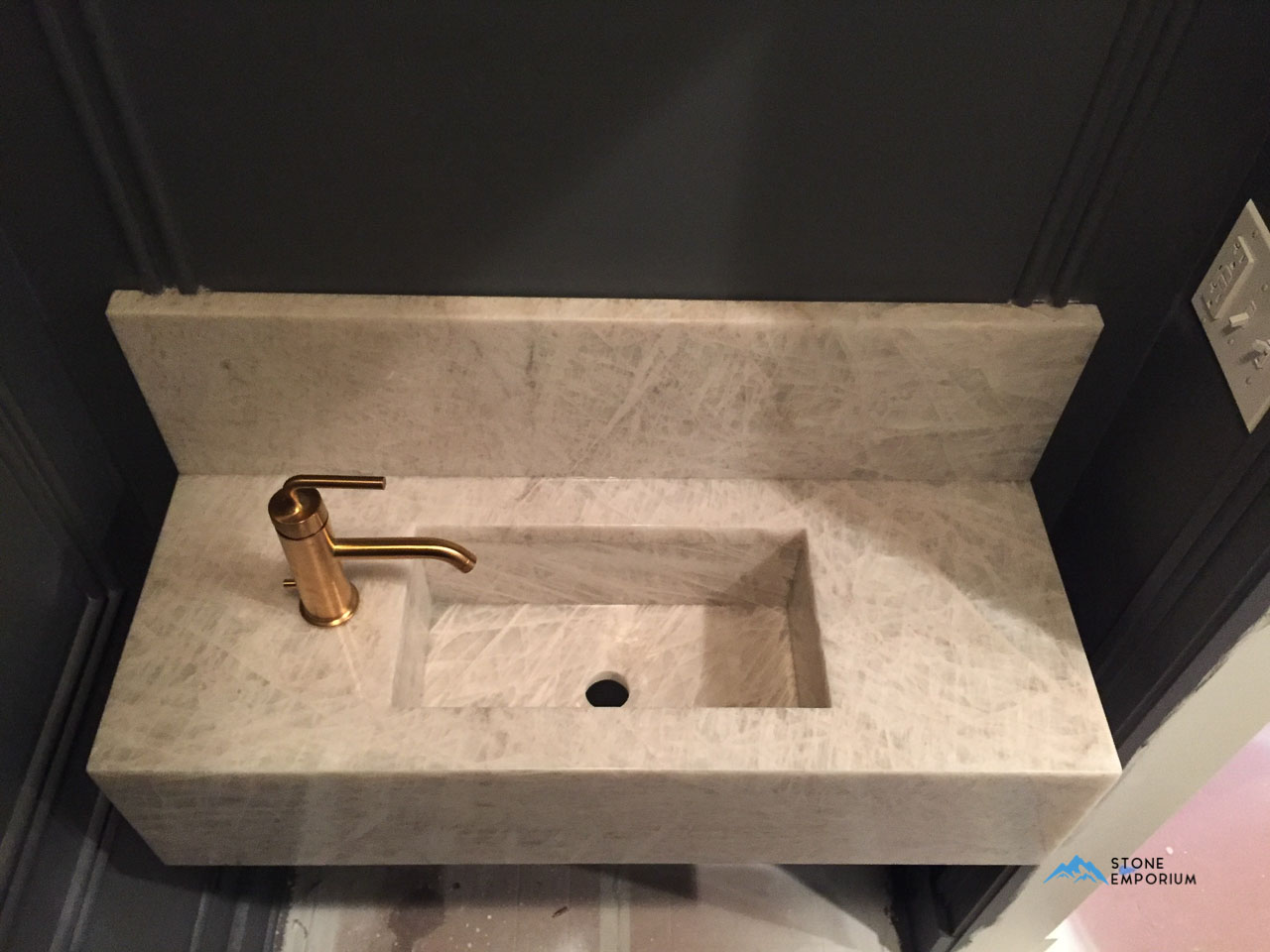 Custom Quartz Bathroom Sink